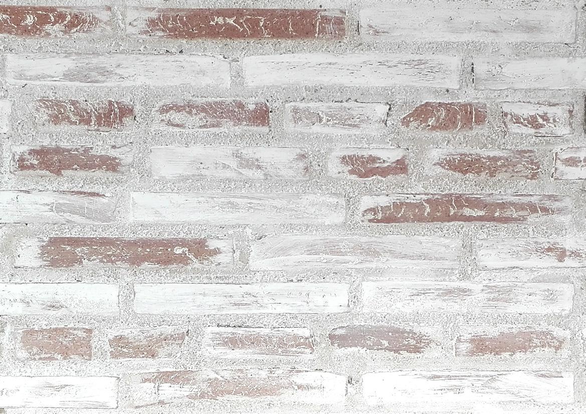 Imitación de pared antigua y desgastada, combinación con ambientes modernos